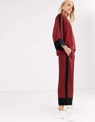 InWear Sateen colourblock pants