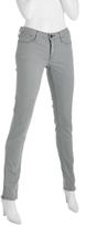 light grey stretch 'Harlan' skinny zip jeans