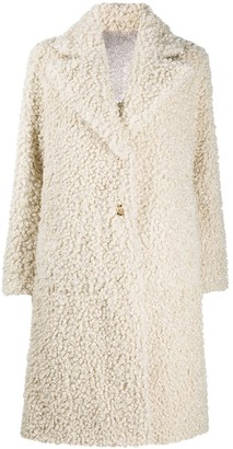 Pinko Reversible Faux-Shearling Coat