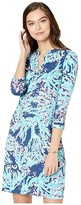Lilly Pulitzer Delora Dress (High Tide Navy Coral Club) Women's Dress