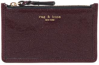 Rag & Bone Field Stingray Effect-leather Cardholder