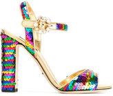 Dolce & Gabbana sequin strap sandals