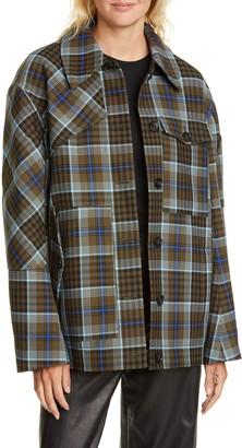 Tibi Spencer Check Jacket