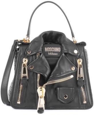 Moschino Biker Jacket Leather Crossbody Bag