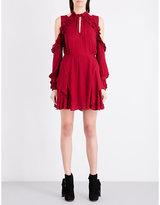 IRO Hania cold shoulder chiffon mini dress