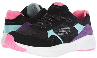 Skechers Meridian - No Worries (Black Multi) Women's Lace up casual Shoes