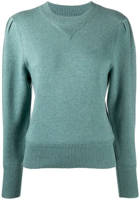 Etoile Isabel Marant Crew Neck Puff Sleeves Jumper