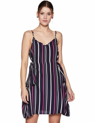 Oasis Wild Women's Printed V Neck Dress with Spaghetti and Side Straps (X-Small