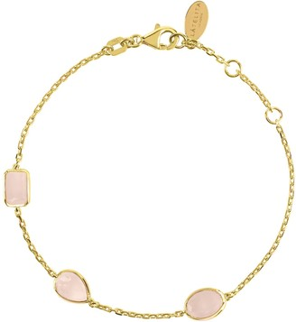 Latelita Venice Bracelet Gold Rose Quartz