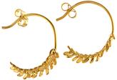 Alex Monroe Leaf Hoop Earrings, Gold