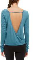 Soffe Midnight Teal Heather Open-Back Scoop Neck Top