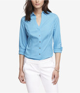 Express Long Sleeve Essential Fitted Shirt