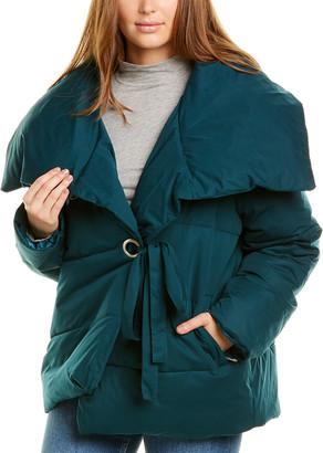 AVEC LES FILLES Water-Resistant Wrap Puffer Coat