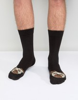 Asos Slipper Socks With Pug Design