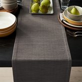 "Crate & Barrel Grasscloth 90"" Graphite Grey Table Runner"