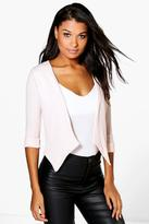 Boohoo Sarah Collarless Crop Blazer