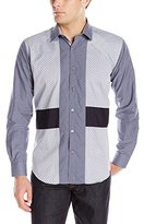 Bogosse Men's Patch 88 Long Sleeve Button Down Shirt