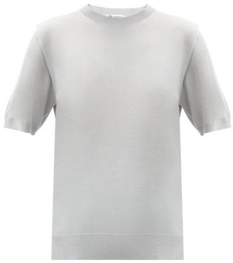 Connolly - Cashmere-blend Short-sleeved Sweater - Light Grey