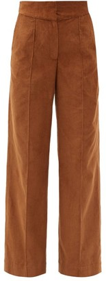 Three Graces London Jude Wide-leg Fine-corduroy Trousers - Brown