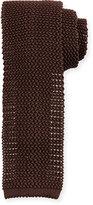 Peter Millar Silk Knit Contrast Tie, Cocoa