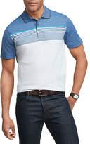 Van Heusen Mens Striped Polo Short Sleeve Shirt