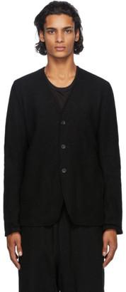 The Viridi-anne Reversible Black Wool Cardigan