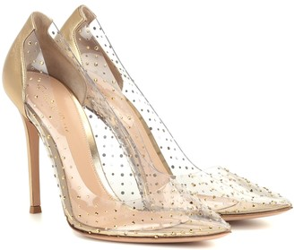 Gianvito Rossi Exclusive to Mytheresa Plexi 105 embellished leather pumps