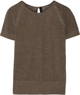 Belstaff Verwood open knit-trimmed cashmere top