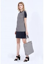 Select Fashion Fashion Pu Panel Check Shift Dress Dresses - size 6