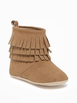 Old Navy Sueded Fringe Booties for Baby