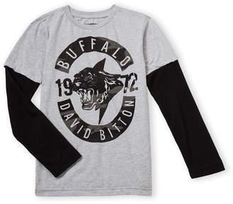 Buffalo David Bitton Boys 8-20) Logo Contrast Thermal Long Sleeve Tee