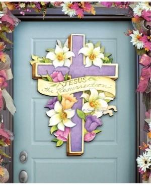 Designocracy by Susan Winget Easter Cross He is Risen Wall and Door Decor