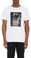 Public School Men's Horse-Statue Cotton T-Shirt-WHITE