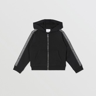 Burberry Childrens Logo Tape Cotton Hooded Top