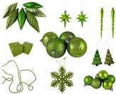 Ball Green Shatterproof Christmas Ornament 125-piece Set