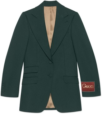 Gucci Fluid drill jacket with label