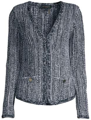 Donna Karan Knit Long-Sleeve Cardigan