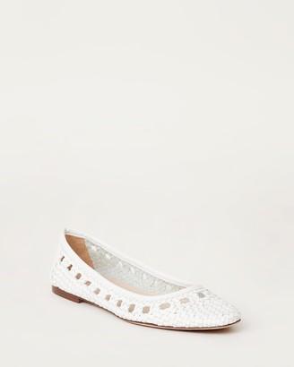 Loeffler Randall Maura Woven Leather Ballet Flat White