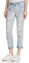 True Religion Embellished Audrey Slim Boyfriend Jeans in New City