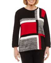 Alfred Dunner Talk Of The Town Colorblock Sweater