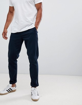 Burton Menswear tapered fit chino in navy