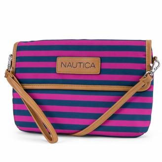 Nautica Women's Perfect Carry-All RFID Blocking Mini Crossbody Wallet Wristlet Clutch
