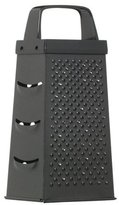 Kitchen Craft Black Non-Stick Four Sided Box Grater 17cm