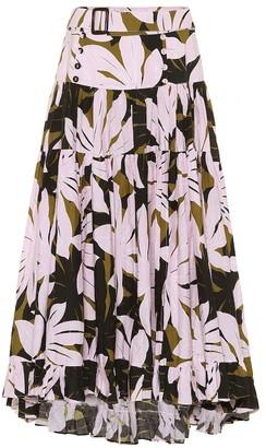 Alexandra Miro Penelope printed cotton midi skirt
