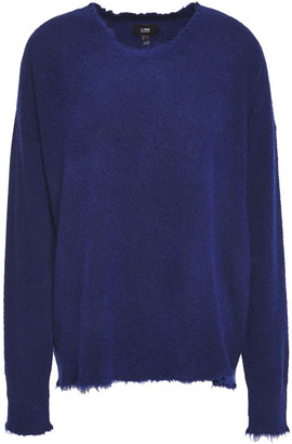 Line Distressed Knitted Sweater