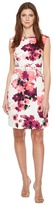 Adrianna Papell Printed Cotton Faille Belted A-Line Dress Women's Dress