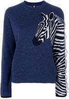 Paul Smith Zebra sweater - women - Acrylic/Polyamide/Merino/Kid Mohair - XS