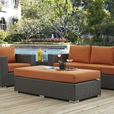 Tripp Outdoor Ottoman with Sunbrella Cushion Brayden Studio Fabric: Tuscan