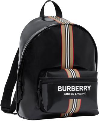 Burberry Men's Icon Stripe Logo Backpack