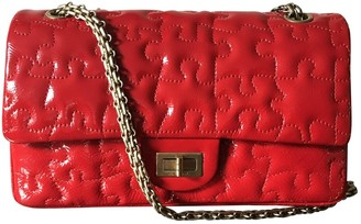 Chanel 2.55 Red Patent leather Handbags